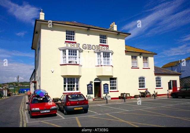 The George inn, West Bay, Dorset, England - Stock Image