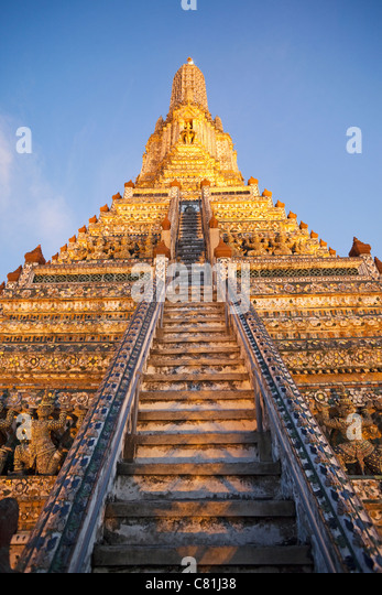 Thailand, Bangkok, Wat Arun, Temple of Dawn - Stock Image