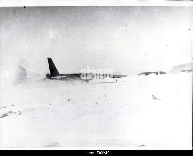 Jan. 23, 1968 - Search for H-Bombs after American Bomber crashed in Greenland: A search is being carried out by - Stock Image