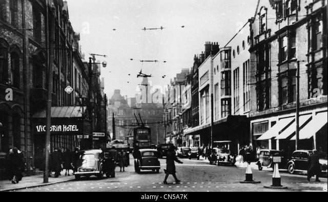 Lichfield Street, Wolverhampton, 1950s. - Stock Image