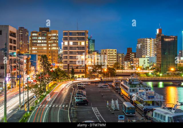 Naha, Okinawa, Japan skyline at the seaport. - Stock-Bilder