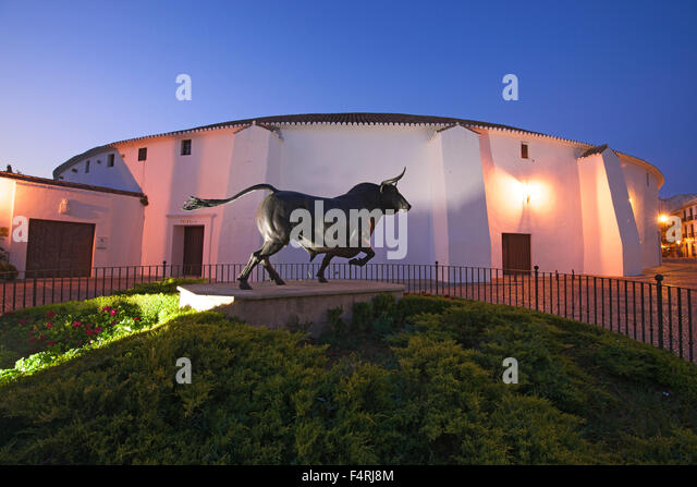 Andalusia, Spain, Europe, outside, evening, mood, atmospheric, dusk, twilight, dusk, building, construction, architecture, - Stock Image