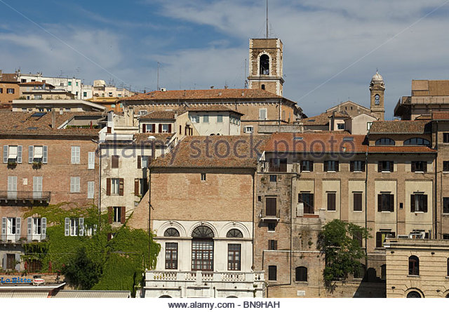 Italy Ancona port city view buildings Travel Tourism Roberto Meazza IML Image Group - Stock-Bilder