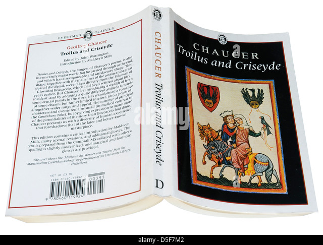 Troilus and Criseyde by Geoffrey Chaucer - Stock Image