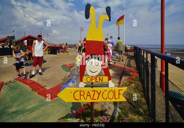 Crazy golf. Mablethorpe. Lincolnshire. England. UK - Stock Image