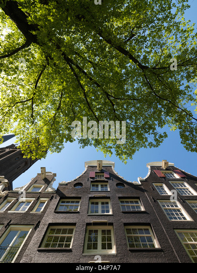 Amsterdam, Netherlands, historic facade on the Singel - Stock Image