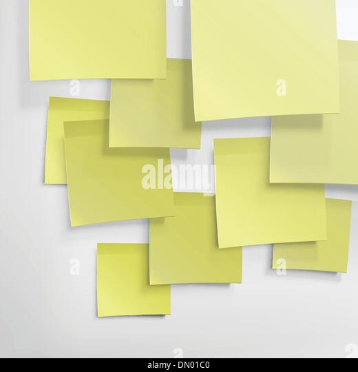 Yellow sticky notes. Abstract background, vector, EPS10 - Stock Image