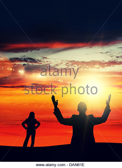 sunset glory - Stock Image
