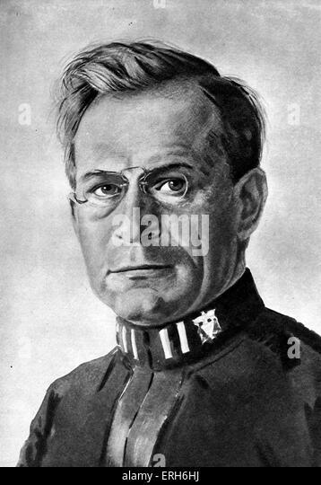 Leonard van Noppen - portrait. Dutch World War I lieutenant and poet, 1888-1947. - Stock Image