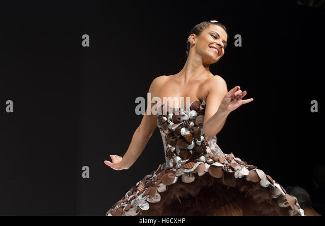 The chocolate fashion show in Paris - Stock Image