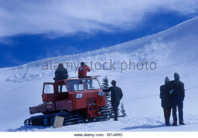 Archival image of Avalanche, Whistler, British Columbia, Canada - Stock Image