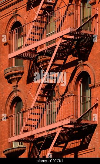 Fire Escape, Tribeca, Manhattan, New York City, New York - Stock Image