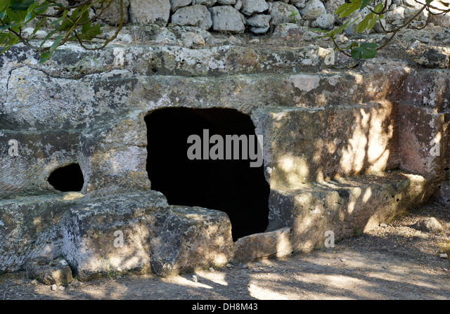 prehistoric cave, torralba d'en salord, menorca, spain - Stock Image