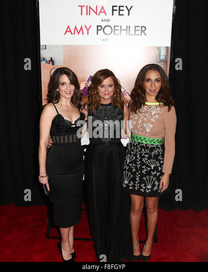 New York, USA. 8th December, 2015. (L-R) Actresses Tina Fay, Amy Poehler and Maya Rudolph attend the premiere of - Stock Image