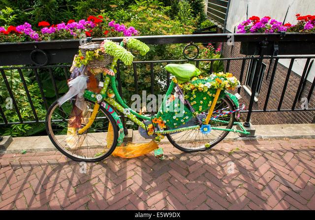 bike in Edam, Holland, Netherlands - Stock Image