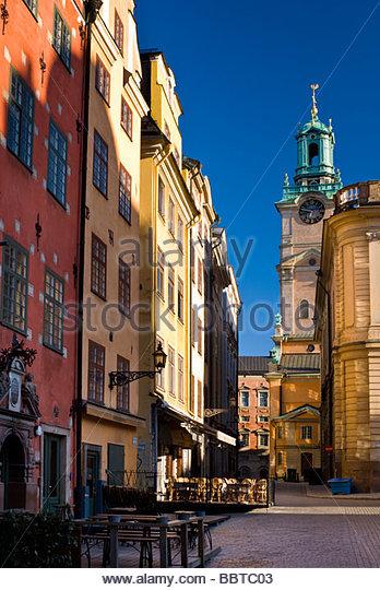 Stortorget, with Storkyrkan behind, Gamla Stan, Stockholm, Sweden. - Stock Image