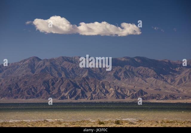 USA, California, Bombay Beach, Salton Sea area, Salton Sea landscape - Stock Image