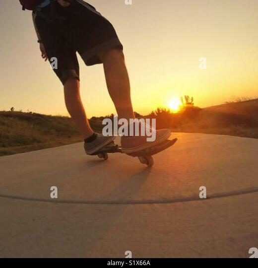 Sunset ride - Stock Image