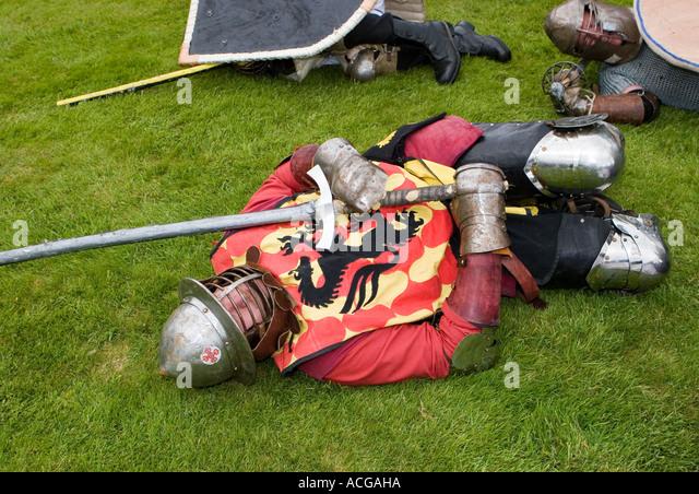 Society of Creative Anachronism Sealed knot society at Edzell Castle, scotland, uk - Stock-Bilder