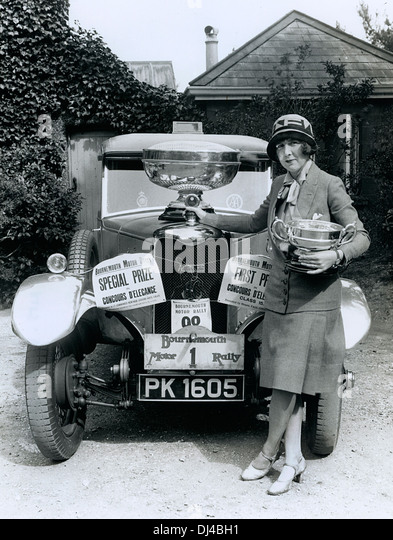 1928 AC. Acedes The Honourable Mrs Victor (Mildred Mary) Bruce. Concours D'Elegence Bournemouth Motor Rally. - Stock Image