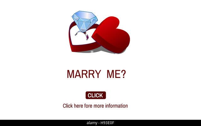 Romantic Gifts Romance Marry me Proposal Concept - Stock-Bilder