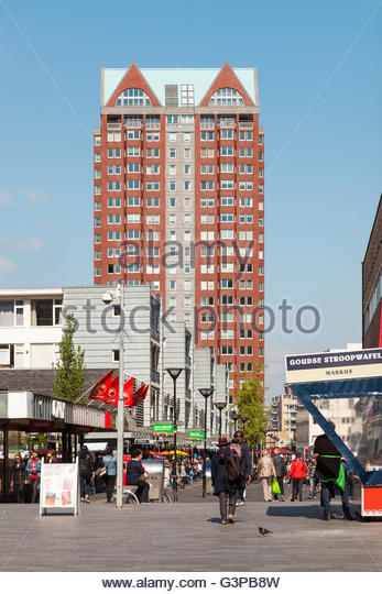 Hoogstraat, Rotterdam, 2016 - Stock Image