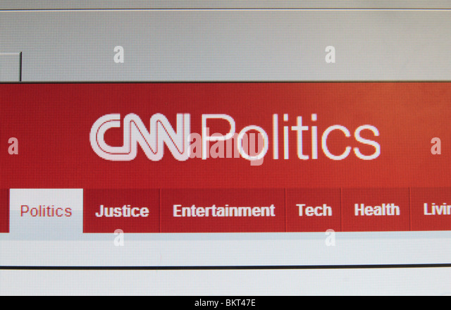 A straight on view of the screen shot of the Politics page on the CNN web site. April 2010 - Stock Image
