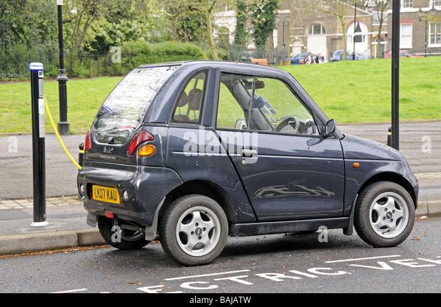Electric car recharging at an  Elektrobay Electric Vehicle Recharging Site in London street Highbury Fields Islington - Stock Image