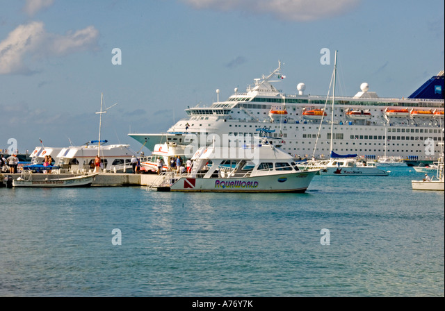 Cozumel Mexico San Miguel town southern cruise ship dock - Stock Image