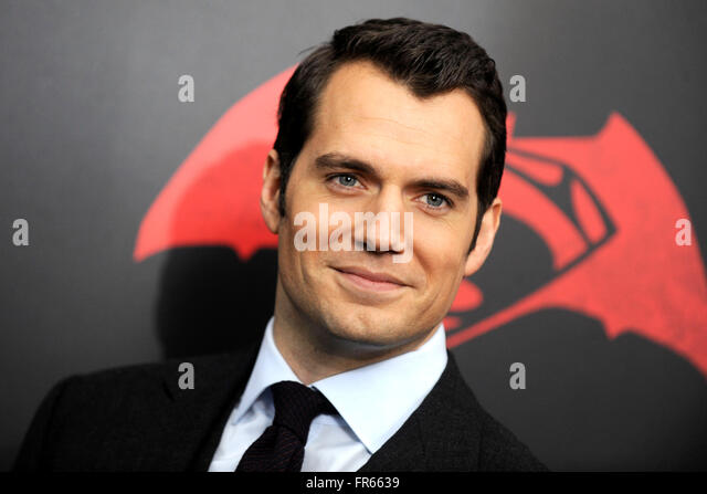 New York City. 20th Mar, 2016. Henry Cavill attends the 'Batman V Superman: Dawn Of Justice' New York premiere - Stock Image