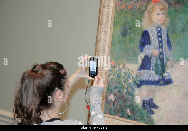 Washington DC National Gallery of Art West Building museum exhibition painting Impressionism Auguste Renoir Girl - Stock Image