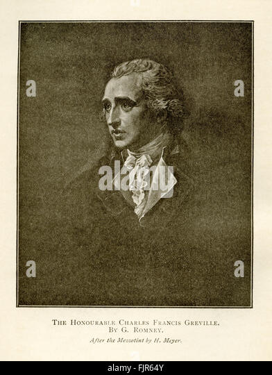 The Honourable Charles Frances Greville (1749–1809). From a painting by George Romney. - Stock Image
