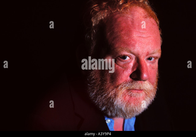 THE WRITER FRANK MCGUINNESS AT THE SWAN THEATRE RSC STRATFORD UPON AVON - Stock Image