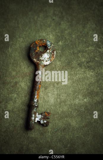 Old rusty key - Stock Image