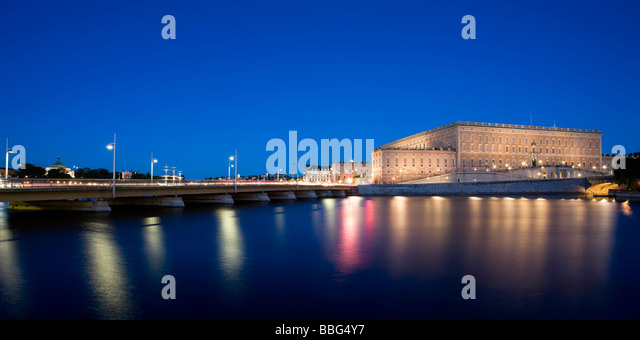 Royal Palace in Stockholm - Stock Image