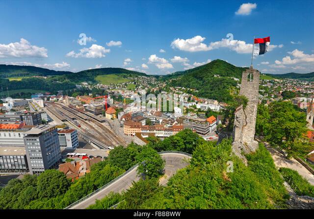 Baden in Kanton Aargau, Switzerland. - Stock Image