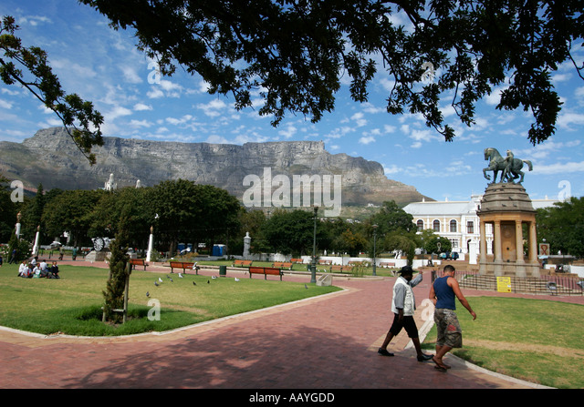 south africa cape town companys garden table mountain equestrian memorial statue south african museum - Stock Image