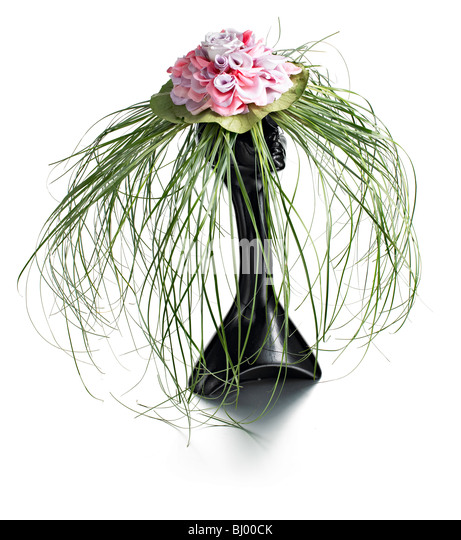 grass and flower hat Ascot ladies day - Stock Image