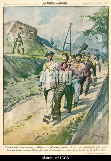 Gibraltar Workers - Stock-Bilder