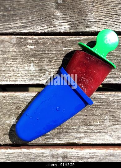 Homemade popsicle - Stock Image