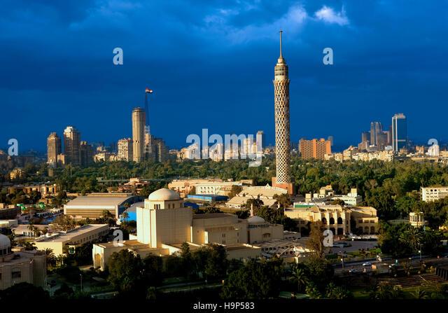 Cairo skyline , Egypt - Stock Image