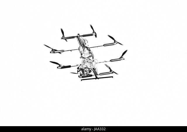 Drone Flight, Hamburg, Germany - Stock-Bilder
