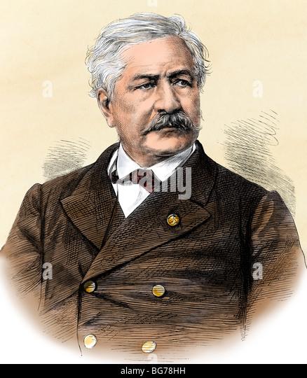 Ferdinand-Marie de Lesseps, who conceptualized the Suez Canal - Stock Image