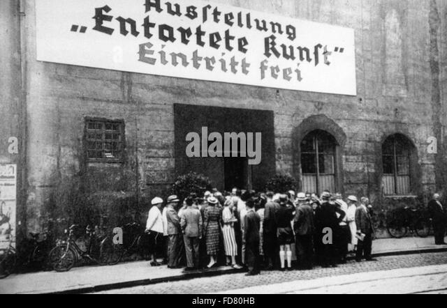 exhibition of degenerate art munich essay The other was the entartete kunst (degenerate art) exhibition, which offered a   adolf hitler and adolf ziegler inspect the installation by willrich and hansen of  the degenerate art exhibition in munich, 1937  essay by dr nausikaä el- mecky.
