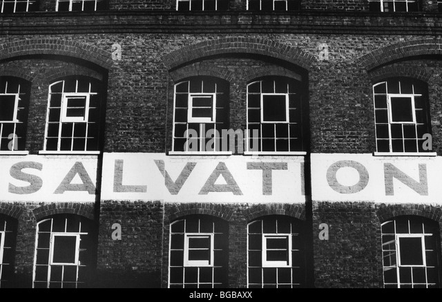 Photograph of salvation army refuge homeless victorian London UK - Stock-Bilder