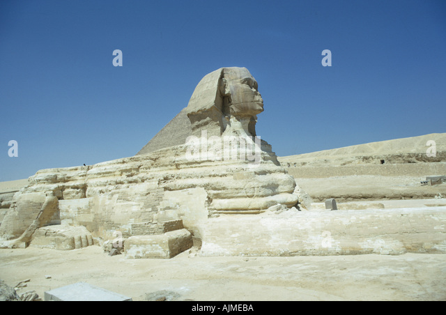 Egypt Archaeology The Sphinx Gizeh Egypt - Stock Image