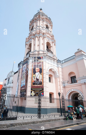 The Church and Convent of Santo Domingo, Lima, Peru, South America - Stock Image