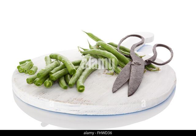 Fresh green beans. - Stock Image