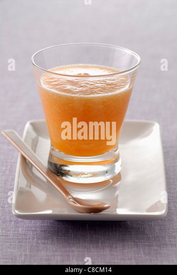 Melon smoothie - Stock Image