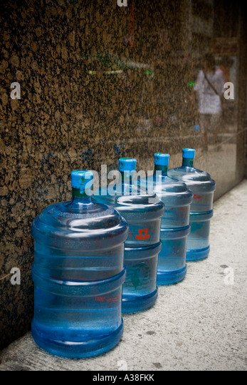 Bottled water, Hong Kong - Stock Image